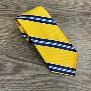 Jos A Bank Heritage Gold w/ Navy Stripe Tie